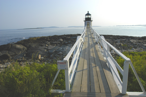 A photo of the lighthouse at Port Clyde. Photo by Robert Leedy.