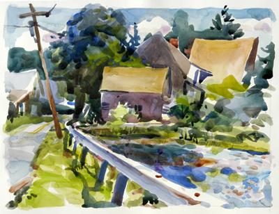 """Roadside Bull Frog Pond, Owls Head, Maine"", by RobertLeedy"