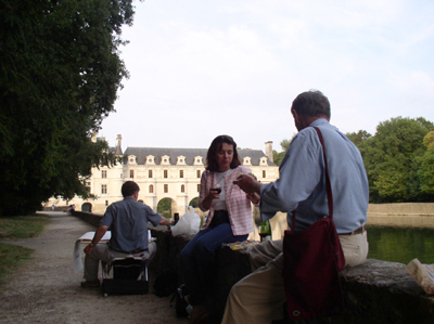 """Painting at Château de Chenonceau"", 2003, Photo by Monica Laird"