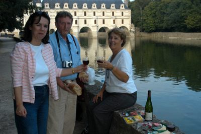 """French pique-nique at Château de Cenonceau"", 2003, Photo by Robert Leedy"