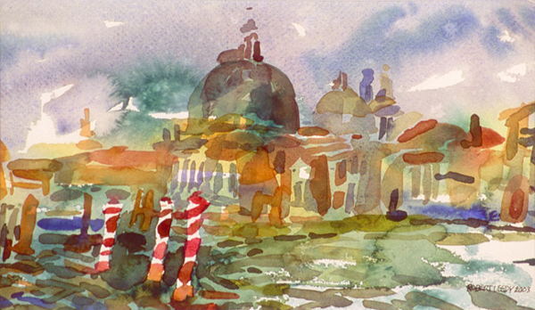 """Grand Canal I"", by Robert Leedy, 2003 6.5 x 11.125 in., watercolor on paper, Collection of the Artist"