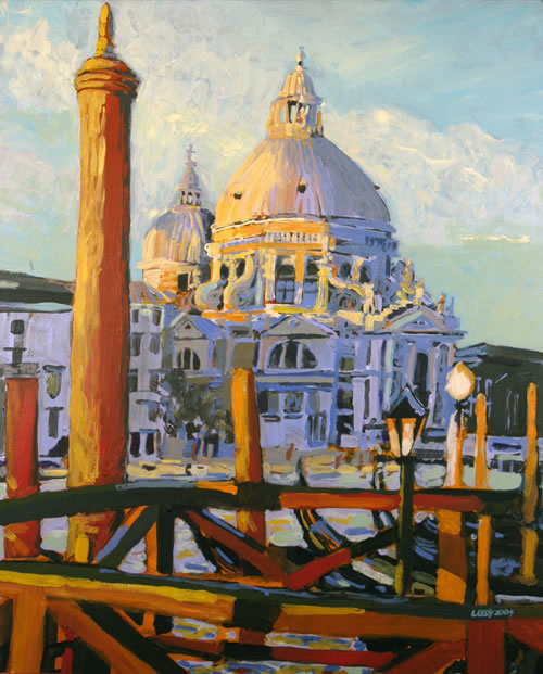 """Santa Maria della Salute II"", by Robert Leedy, 2003, acrylic on canvas, 26 x 21 in., Collection of Mr. & Mrs. William D. Thomas, New York, New York"