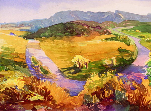 """Chama River"", by Robert Leedy, 2000, watercolor on paper, 10.125 x 13.75 in., Collection of the Artist"
