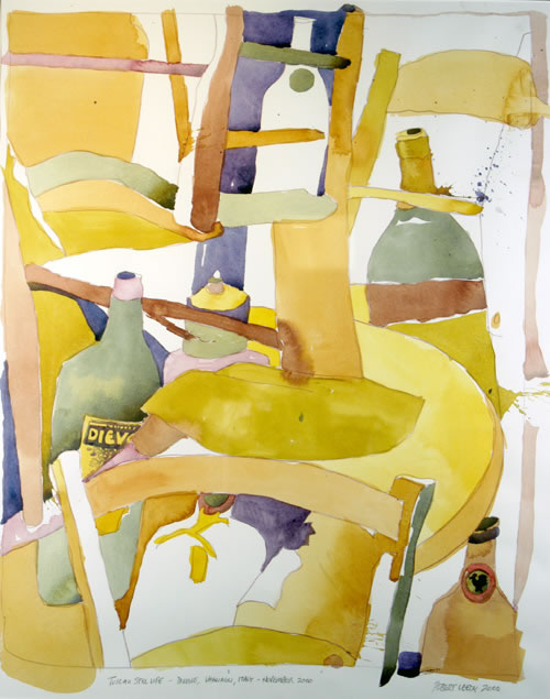 """Tuscan Still Life"", by Robert Leedy, 2000, watercolor on paper, 26.25 x 20.75 in., Collection of the Artist"