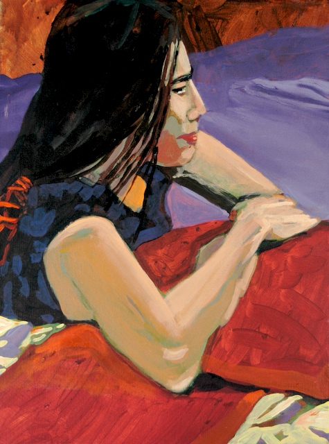 """Denver Figure Series III"", by Robert Leedy, 2005, acrylic on canvas, 12 in. x 16 in., Collection of the Artist"