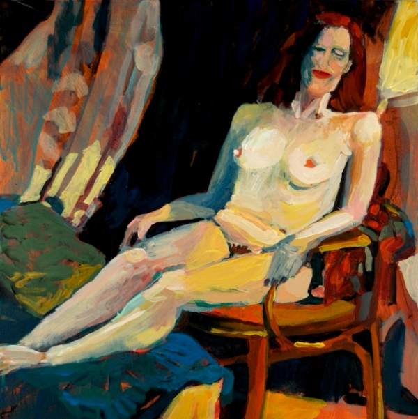 """Denver Figure Series II"", by Robert Leedy, 2005, acrylic on canvas, 16 in. x 16 in., Collection of the Artist"