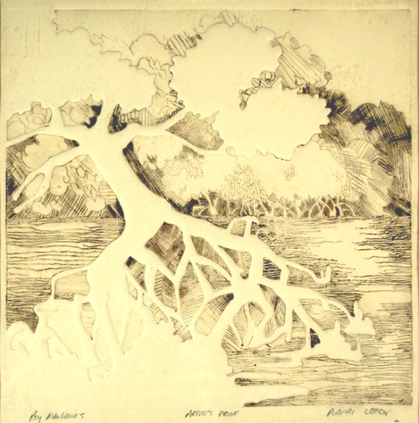 """Key Mangroves"", by Robert Leedy, 1977, etching, Artist's Proof, Collection of the Artist"