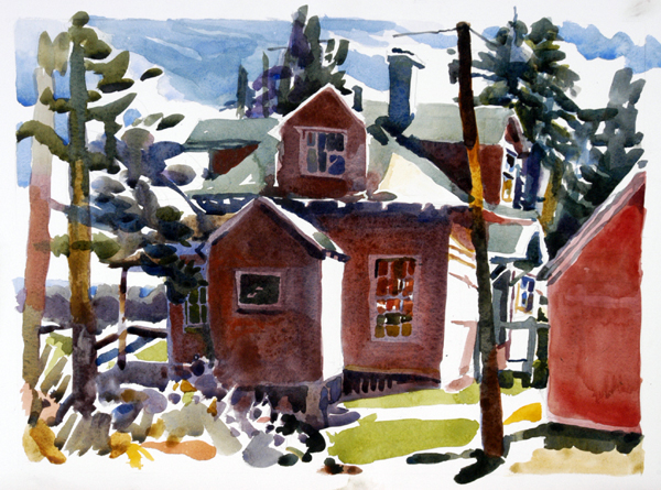 """Mainely for Vacation"", by Robert Leedy, 2008, watercolor on Arches 140 lb. Hot Press paper"