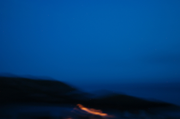 """""""Monhegan Nocturnal Series"""" by Robert Leedy, 2008. All of the elements for abstract painting. (Nikon D100, 42mm, ISO 400, f2.8 @ 1.3 seconds)"""