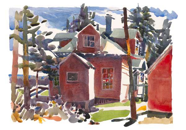 """Mainely for Vacation"", by Robert Leedy 2008, gicleé archival print on watercolor paper, 14.75"" x 21"" (image size), limited, signed edition of 20"