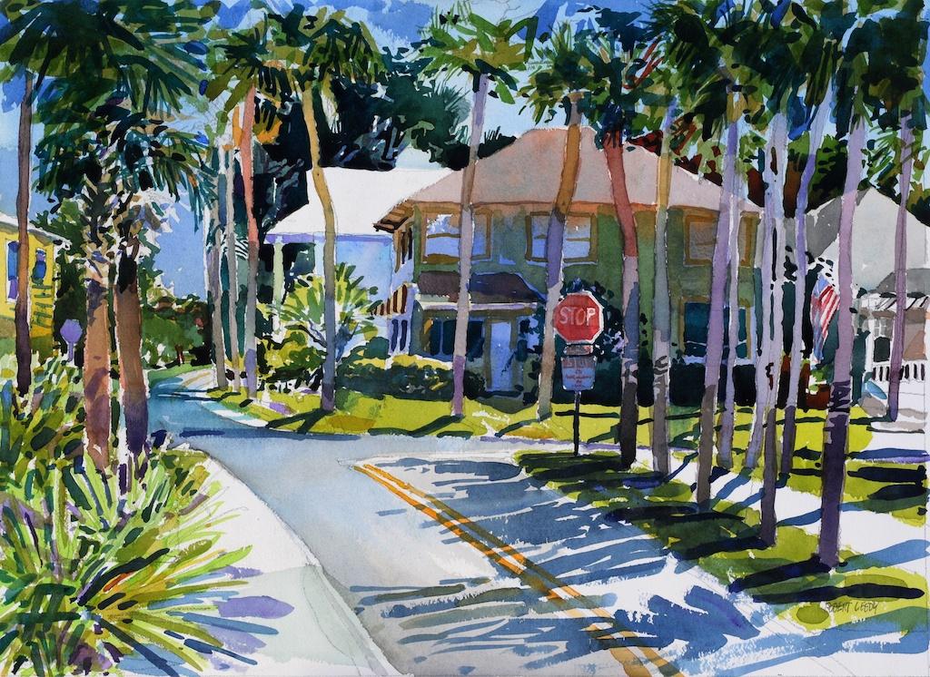"Painting the Region"": Day Two (Atlantic Beach)   Robert"