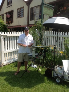 Robert Leedy plein air painting in St. Augustine, Florida.