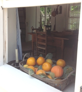 A peek inside the detached kitchen at The Ximenez-Fatio House.
