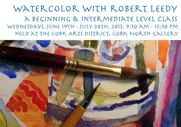 watercolor class cork