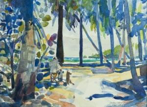 """Painting Companion"", watercolor by Robert Leedy"
