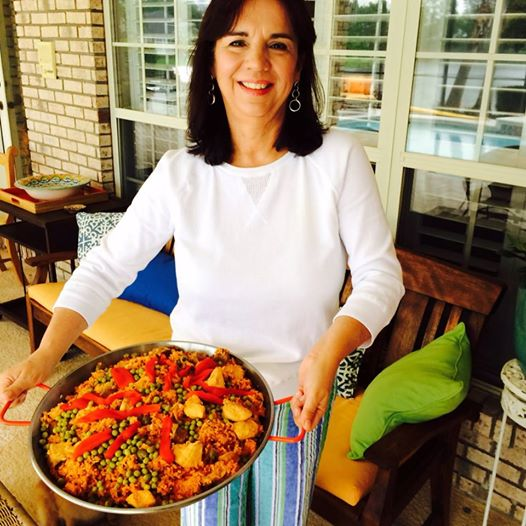 Vicky with her Mother's Day Paella. Photo by Robert Leedy.