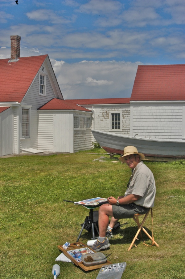 Plein Air Painting Keeper's House 1